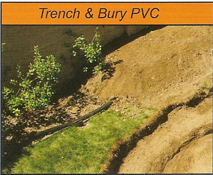 trench and bury your pipe