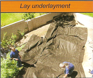 laydown pond underlayment