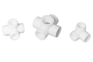 Cage Fitting PVC 5 Way Cross 1 1/4""
