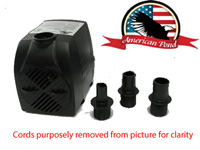 American Pond APJR2500 Submersible Fountain Pump
