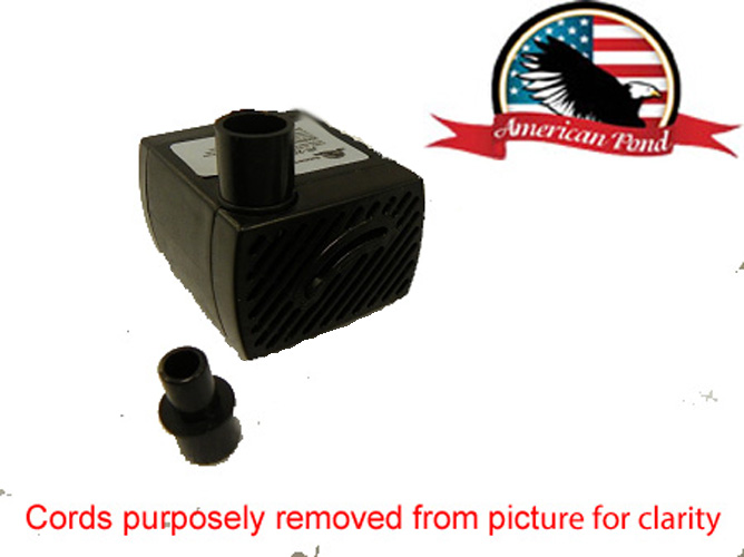 American pond apjr250 2 small submersible fountain pump for Small pond pump