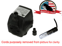 American Pond APJR600L Small Submersible Fountain Pump with 10Watt Finger Light