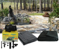 Complete Backyard Pond Kit with Fountain Spray 6 x 8