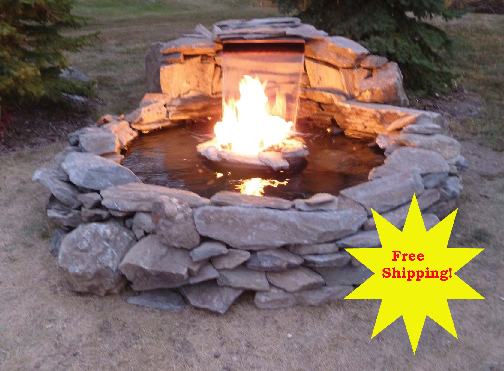 Fire and water kit for Fire and water features